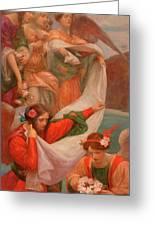Angels Descending Greeting Card