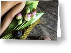 Asian Massage Spa Natural Organic Beauty Treatment Greeting Card