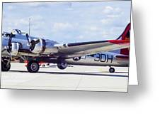B-17 Bomber Parking Greeting Card