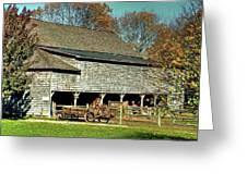 Hallockville Farm Barn Li.ny Greeting Card