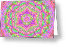 Birth Mandala- Blessing Symbols Greeting Card