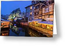 Colmar,petite Venice, Alsace, France, Greeting Card