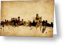 Detroit Michigan Skyline Greeting Card