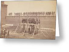 Execution Of The Conspirators Greeting Card