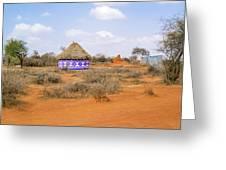 Farmland Landscape In Ethiopia Greeting Card