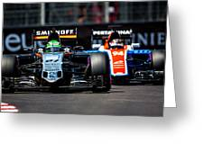 Formula 1 Monaco Grand Prix 2016 Greeting Card