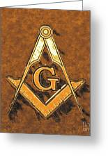 Freemason, Mason, Masonic Symbolism Greeting Card