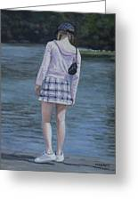 Girl In The Park Greeting Card
