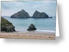Holywell Bay - Cornwall Greeting Card