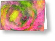 Impression Series - Floral Galaxies Greeting Card by Ranjay Mitra