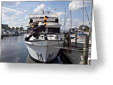 Lake Monroe At The Port Of Sanford Florida Greeting Card