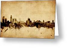 Liverpool England Skyline Greeting Card