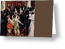 Masked Ball At The Opera Greeting Card