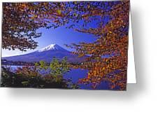 Mount Fuji In Autumn Greeting Card