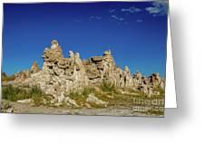 Natural Rock Formation At Mono Lake, Eastern Sierra, California, Greeting Card