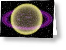 Network Planet Greeting Card