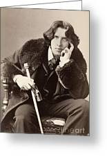 Oscar Wilde (1854-1900) Greeting Card by Granger