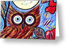Owl Midnight Greeting Card