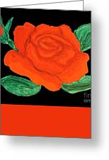 Red Rose, Painting Greeting Card