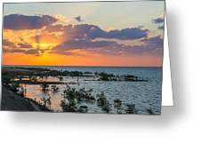 Red Sea Sunset Greeting Card