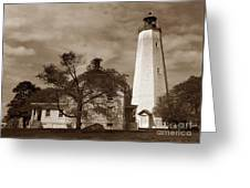 Sandy Hook Lighthouse Nj  Greeting Card