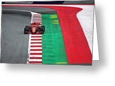 Sebastian Vettel Ferrari  Greeting Card