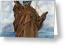 Statue Of Liberty 1886 Greeting Card