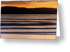 Sunrise Seascape And Headland Greeting Card