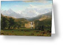 The Rocky Mountains Greeting Card