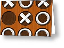 Tic Tac Toe Wooden Board Generated Seamless Texture Greeting Card