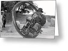 90 M P H Monocycle - 1933 Greeting Card