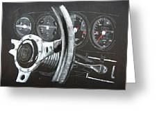 911 Porsche Dash Greeting Card