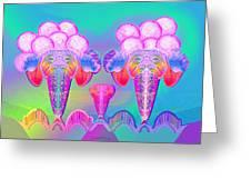 917 - Icecream Summerfruit A  Greeting Card