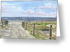 92nd Street Greeting Card by Margie Perry