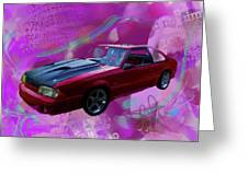 93 Mustang V2 Greeting Card