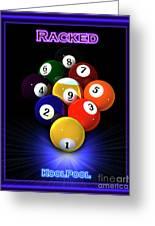 9ball Racked Greeting Card