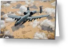 A-10 Thunderbolt Warthog Greeting Card