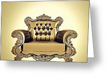 A A G - Antiquearmchairgold Greeting Card