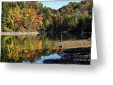 A Autumn Walk Greeting Card