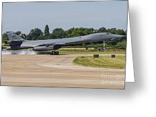 A B-1b Lancer Of The U.s. Air Force Greeting Card