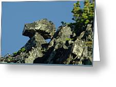 A Balancing Rock  Greeting Card