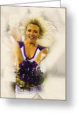 A Baltimore Ravens Cheerleader  Greeting Card