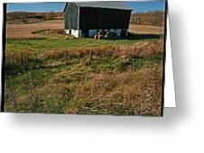 A Barn In Mid Autumn  Greeting Card