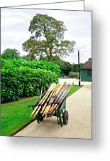 A Barrow Load Of Oars Greeting Card