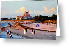 A Beach Scene Greeting Card