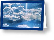 A Beam Of Heavenly Light Greeting Card