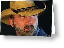 A Bearded Cowboy Greeting Card