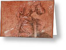 A Bearded Saint Kneeling Greeting Card