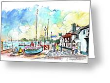 A Beautiful Street In Watchet Greeting Card