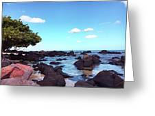 A Beautiful View Of The Sea From Mauritius Greeting Card